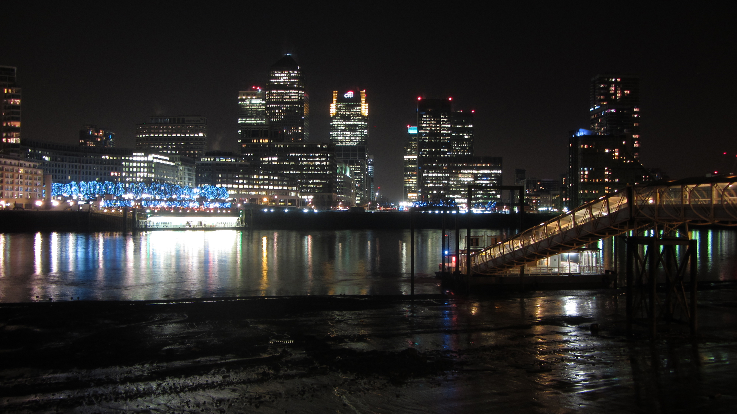 Canary Wharf at Night, March 2013