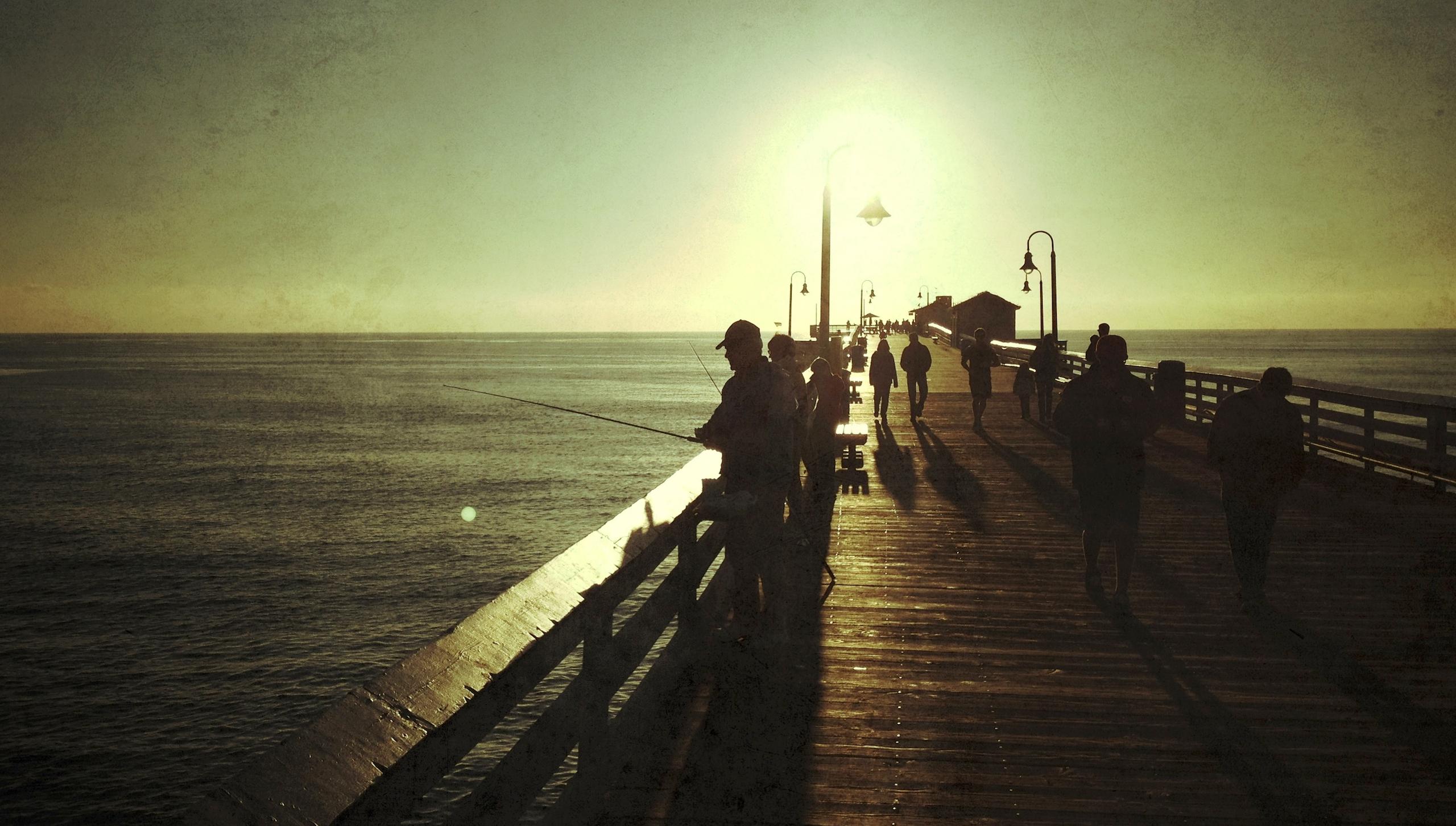 Oceanside Ca. boardwalk at sunset